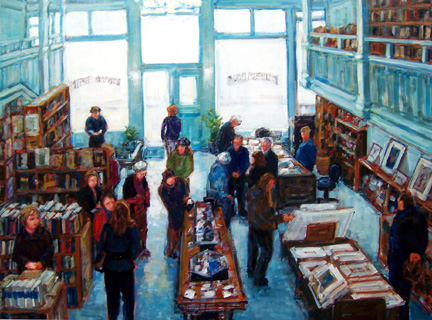 Painting by Linda Mitchell of Eureka Books